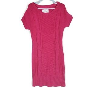 Justice Pink Sparkly Sweater Dress Size 8